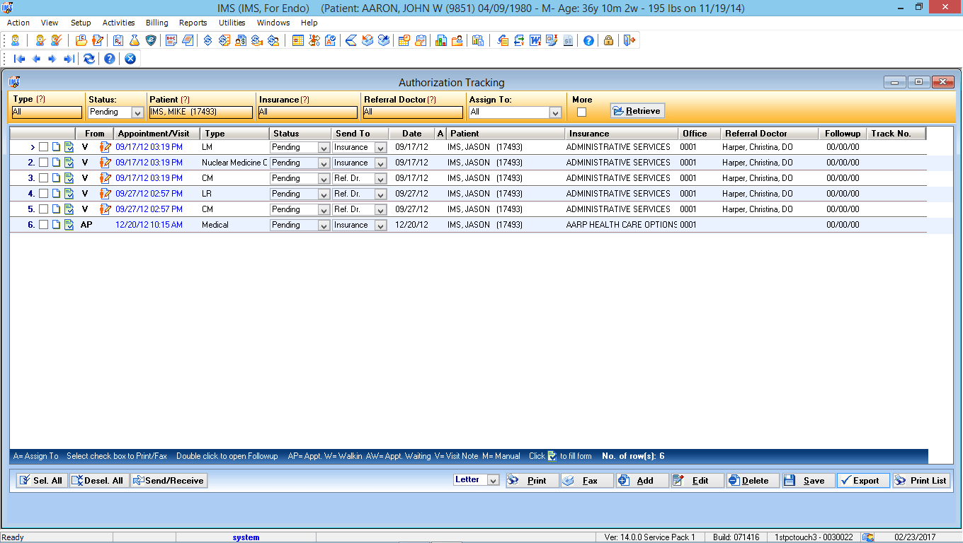 Endocrinology EMR Authorization Tracking