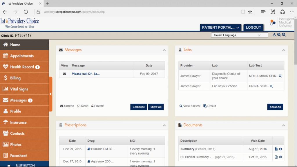 Diabetology Patient Portal