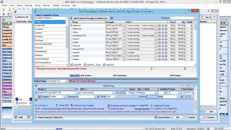 Cardiology EMR Software E-Rx