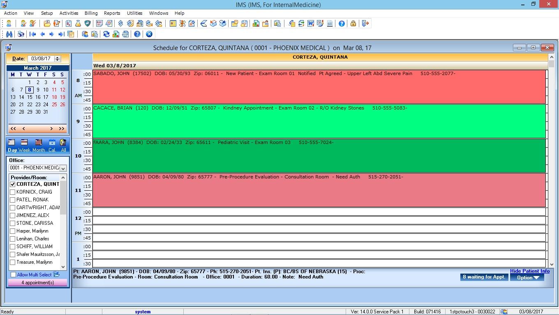 Internal Medicine EMR Software Patient Appointment Scheduling