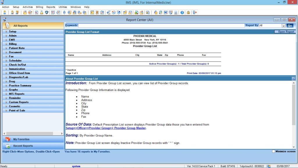 Internal Medicine Reports Center