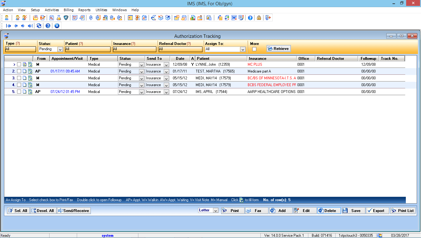 OB/GYN EMR Software Authorization Tracking