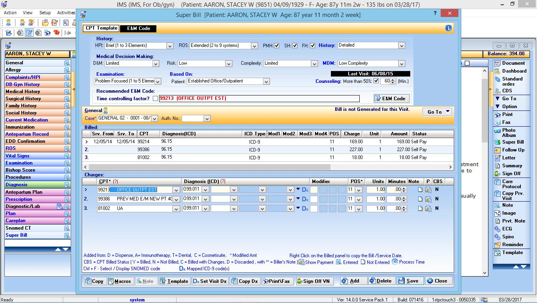 OB/GYN EMR Software CPT Code Advisor