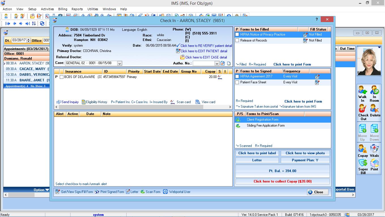 OB/GYN EMR Software Check-In