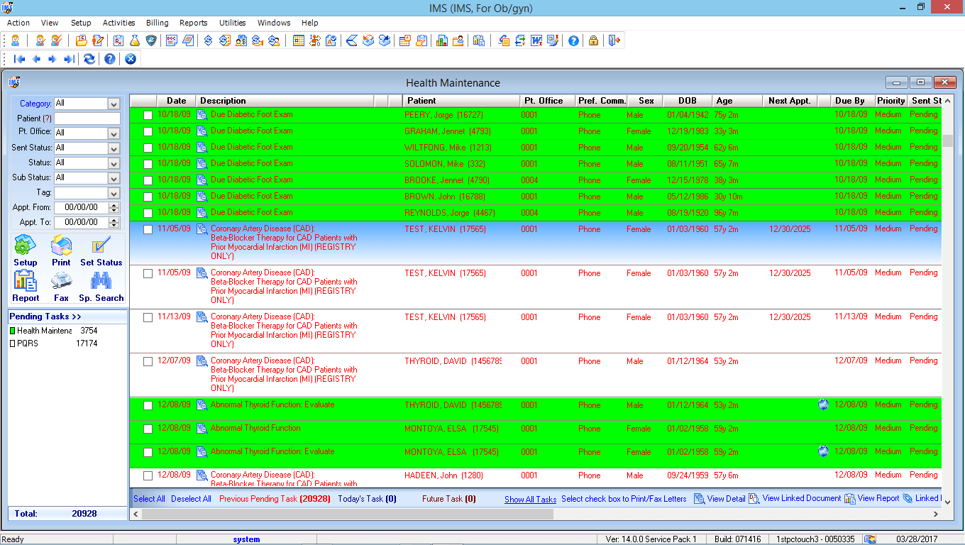 OB/GYN EMR Health Maintenance Tracking