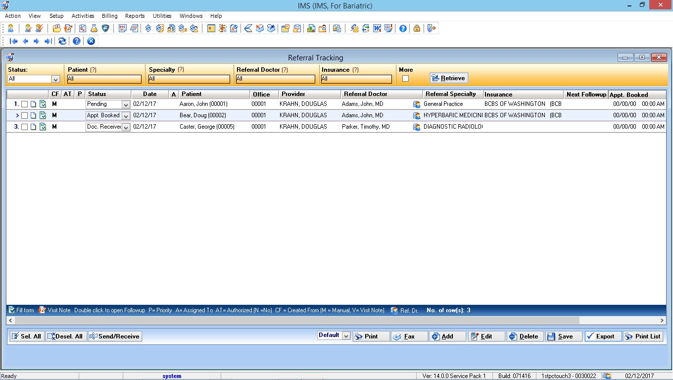 Bariatric Surgery EMR Software Referral Tracking