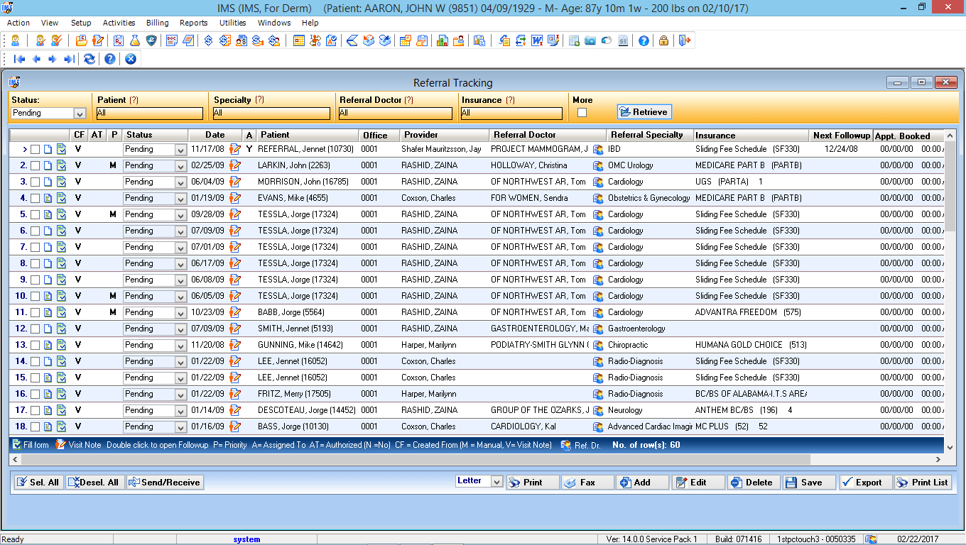 Dermatology EMR Referral Tracking