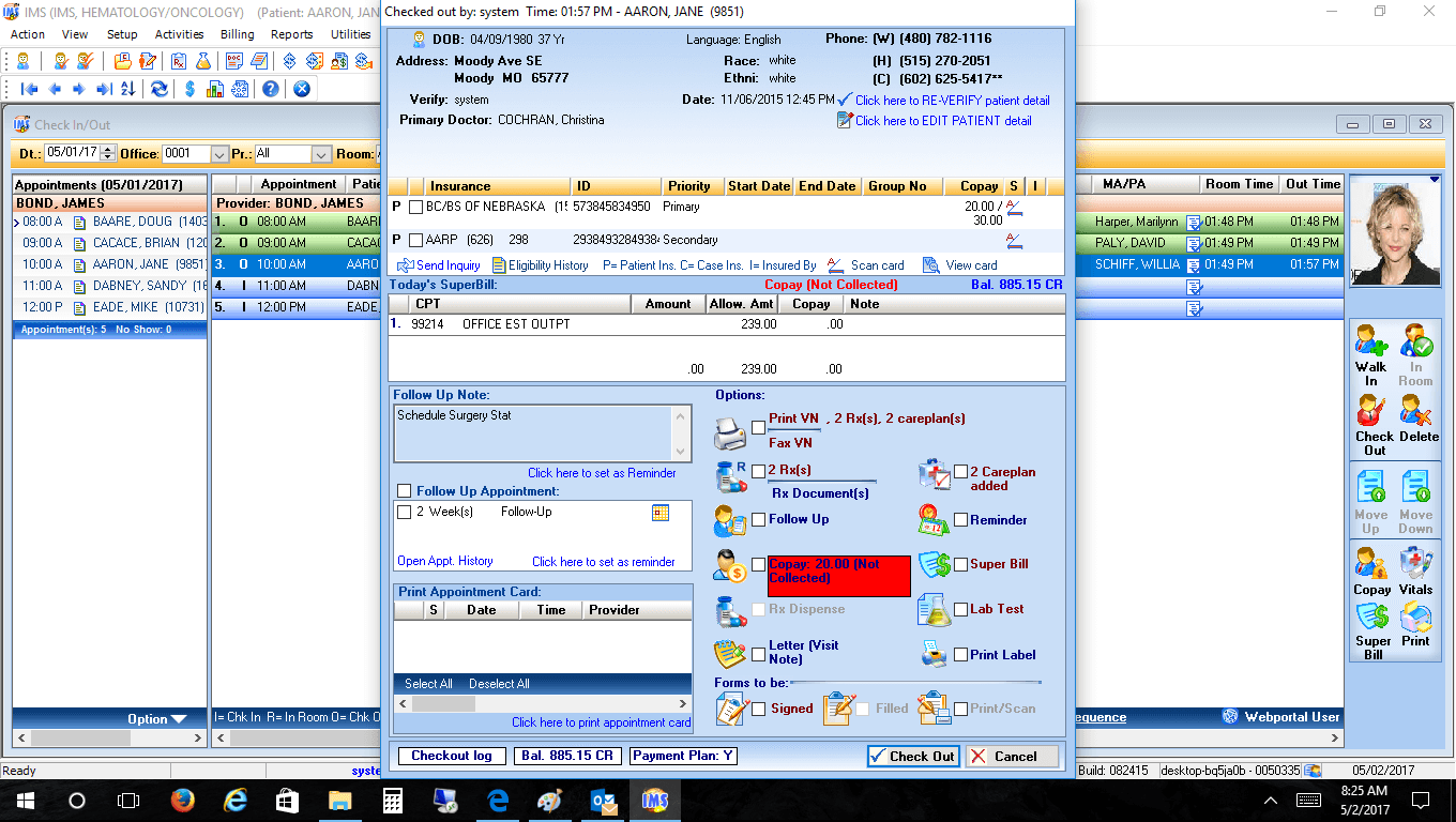 Hematology/Oncology EMR Software Check-Out