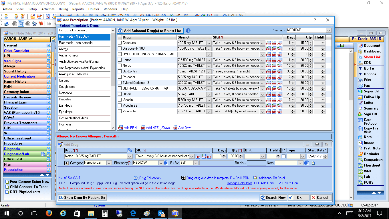 Hematology/Oncology EMR Software E-Rx