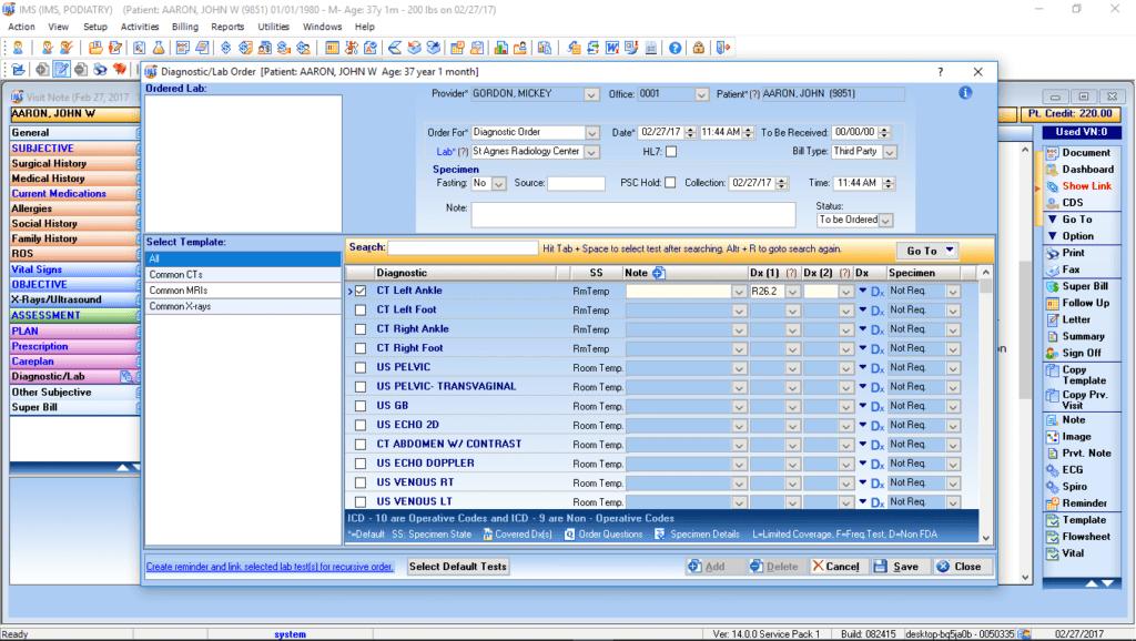 Podiatry Labs & Diagnostic