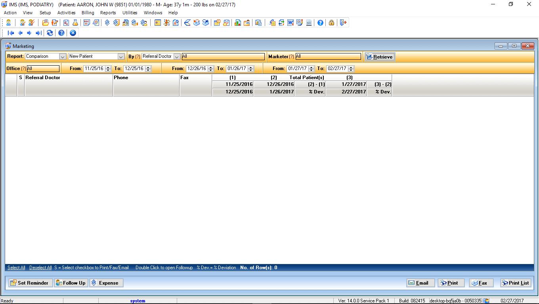 Podiatry EMR Marketing Module