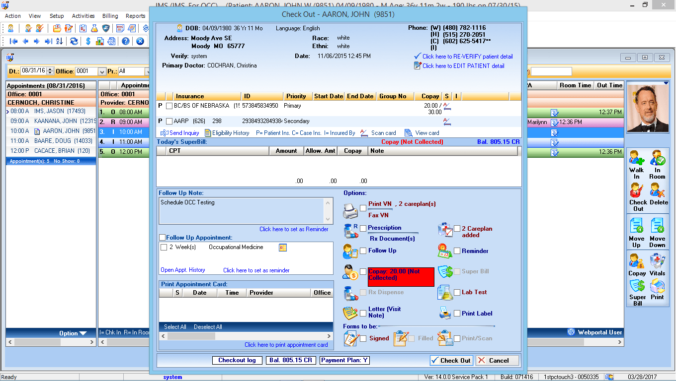 Occupational Medicine EMR Software Check-Out
