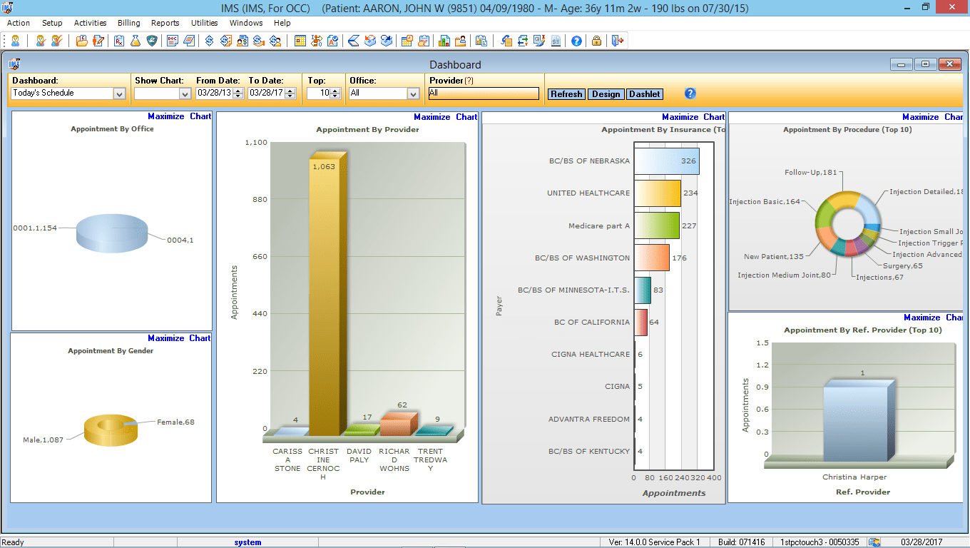 Occupational Medicine EMR Software Reports Center