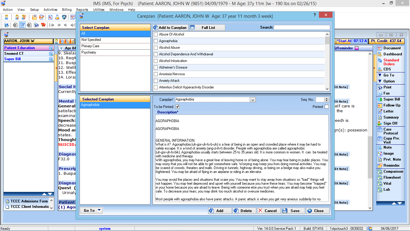 Psychiatry EMR Software - 1st Providers Choice