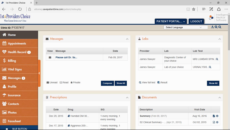 Psychiatry EMR Patient Portal