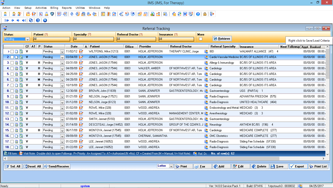 Physical Therapy EMR Software Authorization Tracking