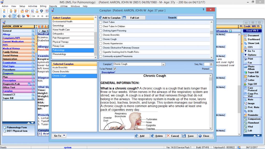 Pulmonology Care Plan