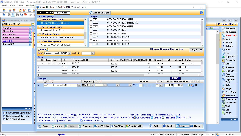 Urology EMR Software Electronic Superbill