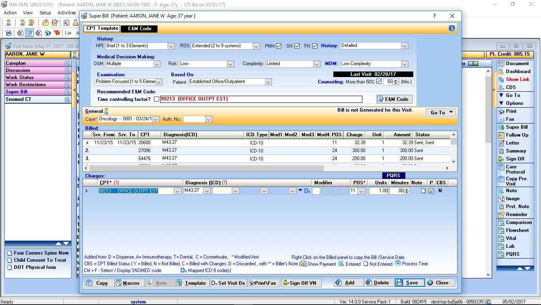 Urology EMR Software CPT Code Advisor