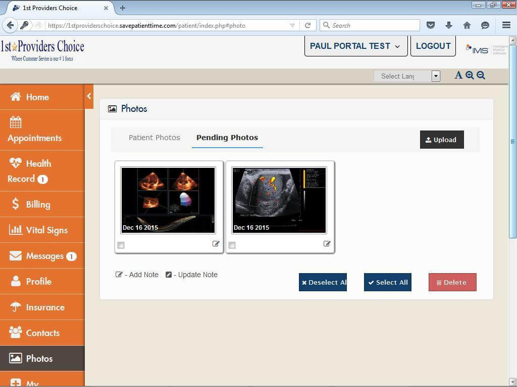 OB/GYN Patient Portal Patient Photos