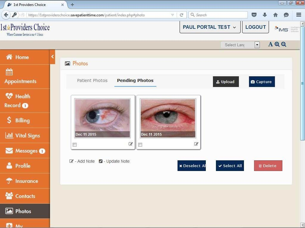 Ophthalmology Patient Portal Patient Photos