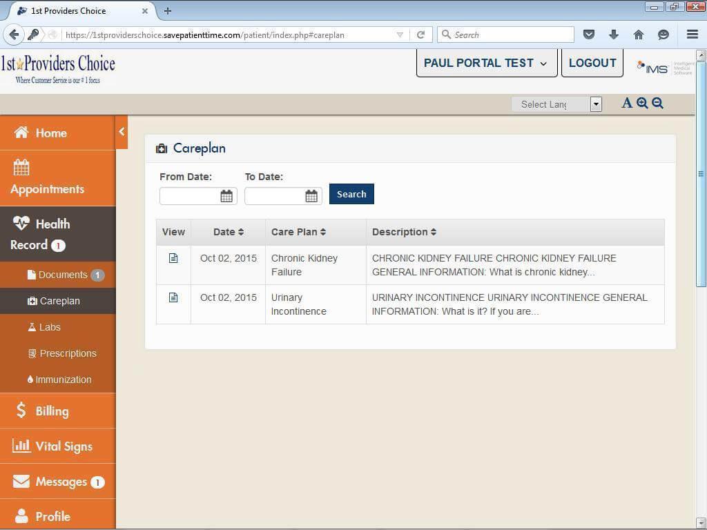 Urology Patient Portal My Care Plans & Patient Handouts