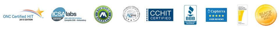emr software certified badges